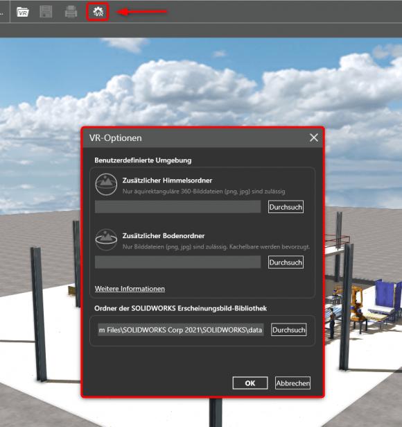 SOLIDWORKS eDrawings VR_Bilder_einfügen