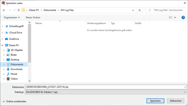 SOLIDWORKS Rx Log Files