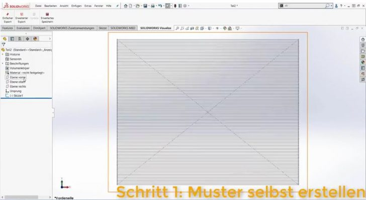 Video-Tipp! Lochblech oder Gitter in SOLIDWORKS simulieren