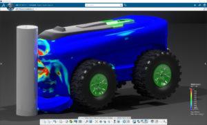 Simulationsergebnis zur Materialanalyse