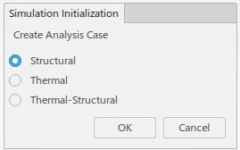 Screenshot: Auswahlfenster des Simulationstyps