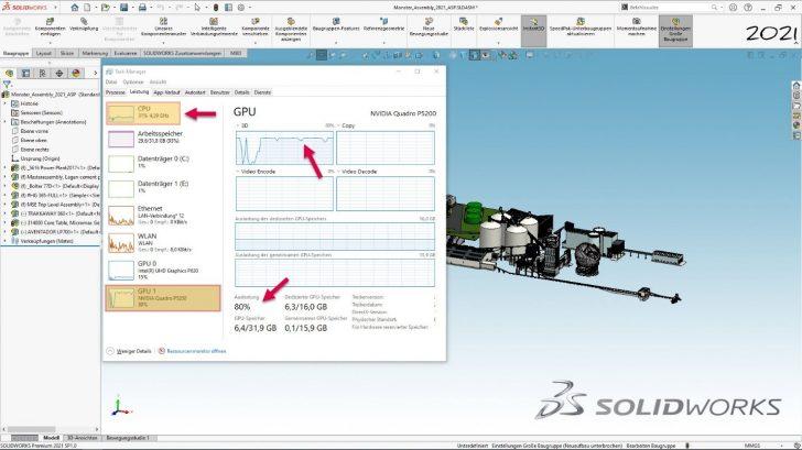 Nutzen der aktuellen Hardware im CAD – Grafikperformance Neuigkeiten in SOLIDWORKS 2021
