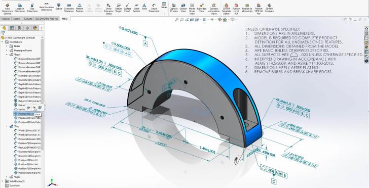 Organisez les annotations 3D plus facilement dans SOLIDWORKS 2020