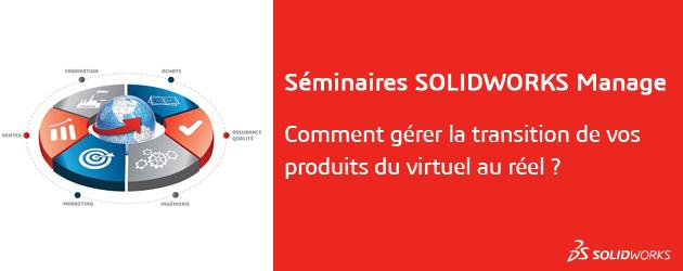 Inscrivez-vous aux séminaires SOLIDWORKS Manage le 28 ou 29 Juin