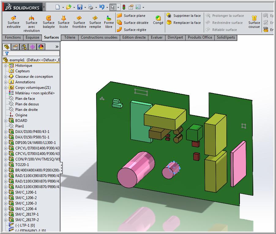Complément CircuitWorks pour intégrer vos circuits imprimés