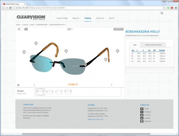 Personalización de productos con SOLIDWORKS Sell