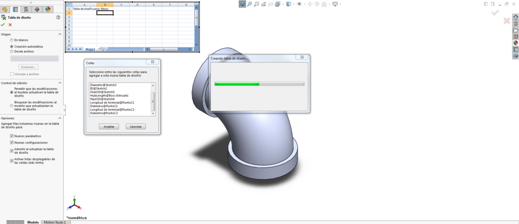 tabla de diseño CAD