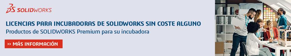 SOLIDWORKS incubadoras y aceleradoras