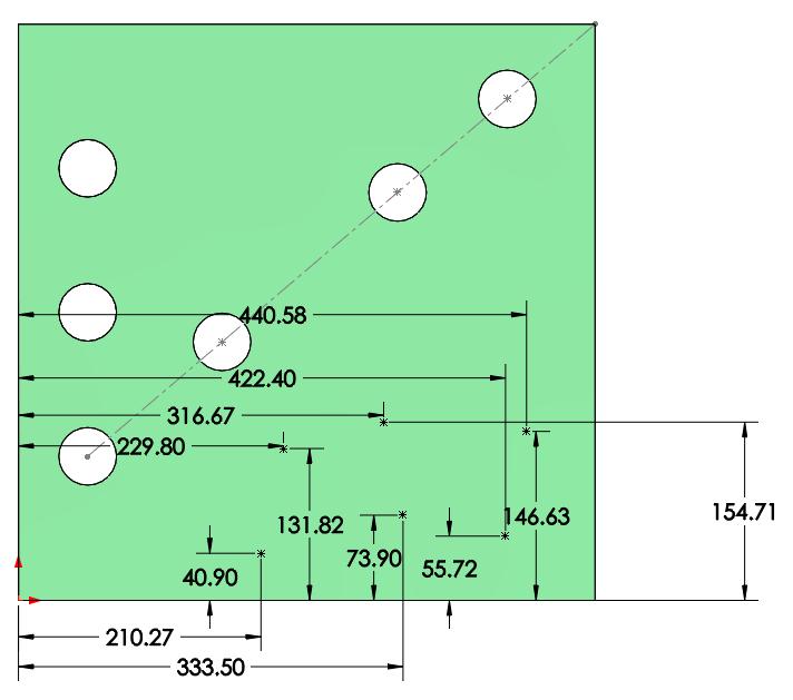 Como crear una matriz conducida por croquis en SOLIDWORKS
