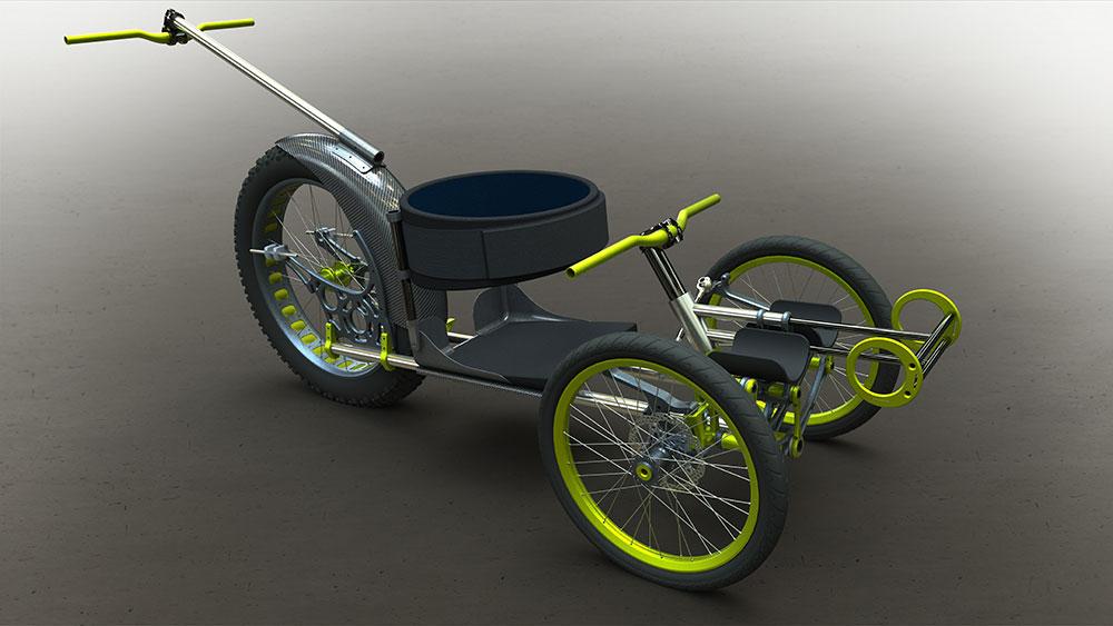 Silla de ruedas diseñada con la nueva plataforma 3DEXPERIENCE
