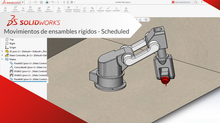 """SolidWorks """"Movimientos de ensambles rígidos"""""""