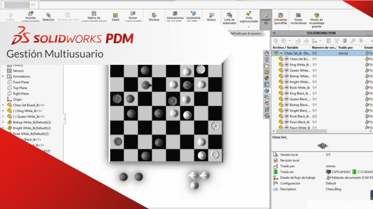 SolidWorks PDM Gestión Multiusuario