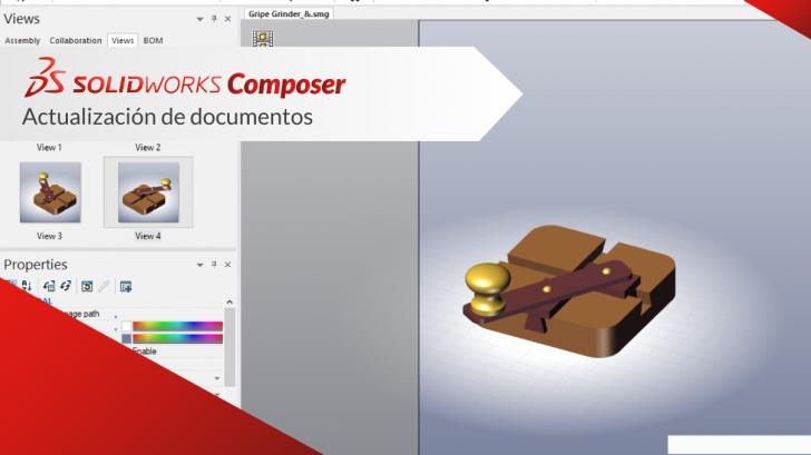 SOLIDWORKS composer actualización de documentos