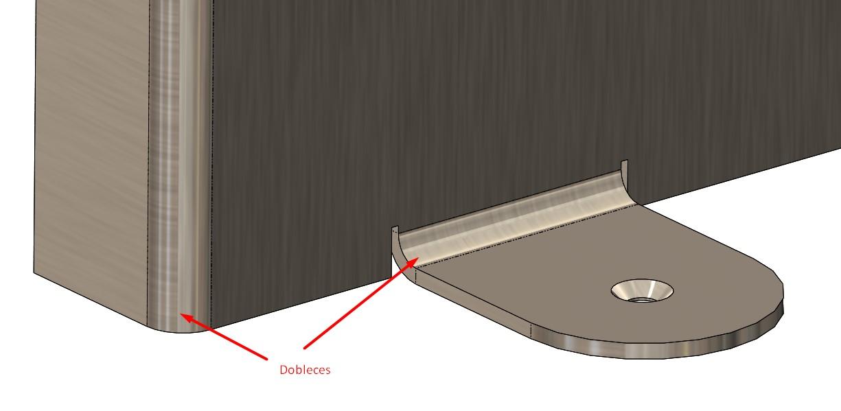 Ejemplo de flexibilidad de chapa metálica con SOLIDWORKS