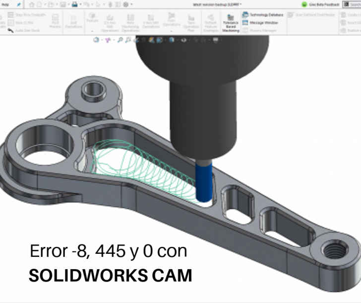 ¿Cómo resolver el Error de advertencia (-8,544,0) en SOLIDWORKS CAM?