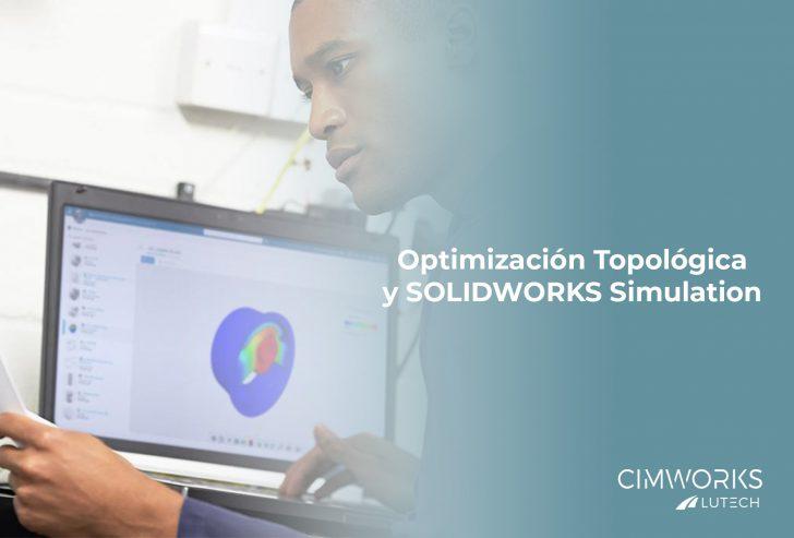 ¿Cómo funciona la herramienta de optimización topológica en SOLIDWORKS Simulation?