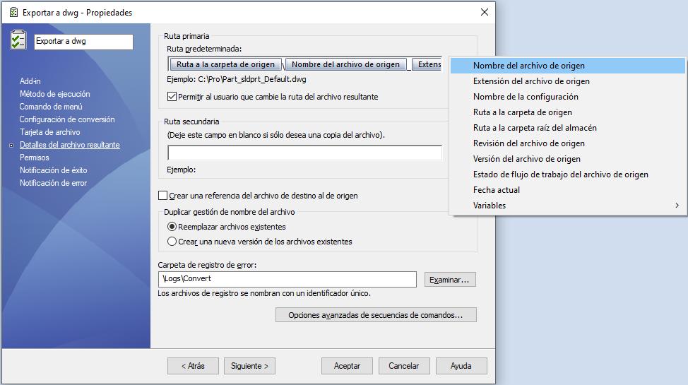 EasyWorks personalizar Tarea PDM