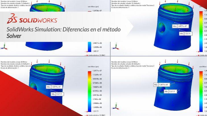 """SolidWorks Simulation """"Diferencias en el método solver"""""""
