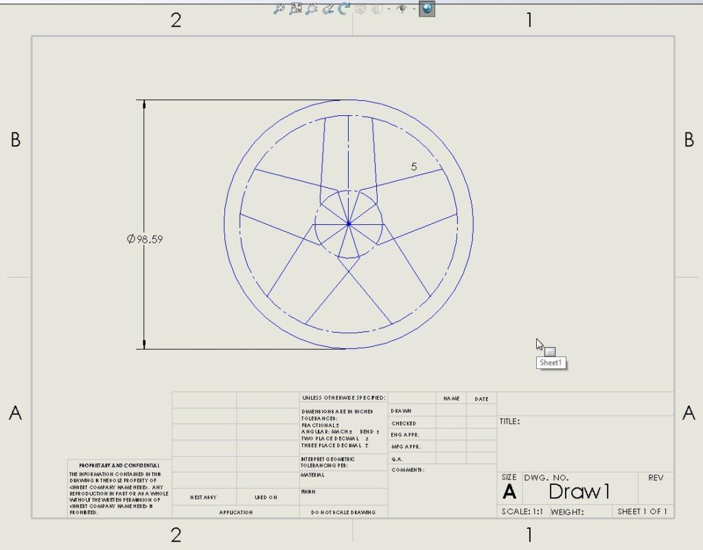 Dibujo de Plano en 2D