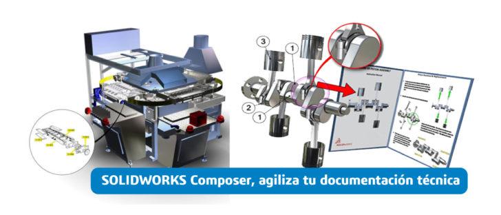 SOLIDWORKS Composer, agiliza tu documentación técnica.