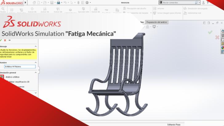 "SOLIDWORKS Simulation ""Fatiga Mecánica"""