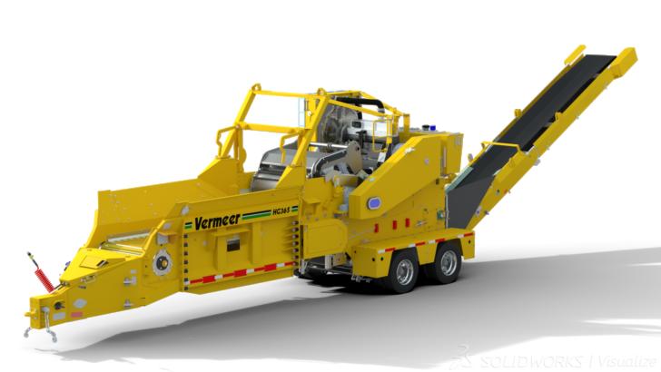Vermeer Corporation acelera el desarrollo de maquinaria grande con SOLIDWORKS