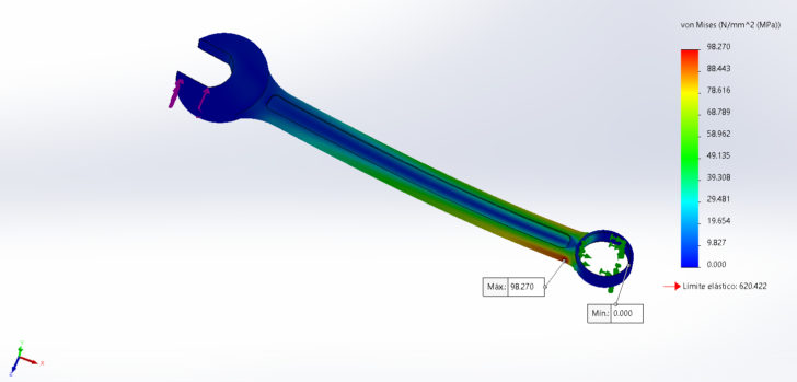 Cálculo de torques en SOLIDWORKS Simulation