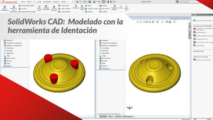 SOLIDWORKS CAD: Modelado Con La Herramienta De Identación
