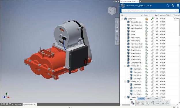 Gestione datos CAD de varios sistemas en un único entorno de desarrollo de productos