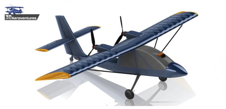 Impresión 3D de un video aéreo, aeronave FPV R / C