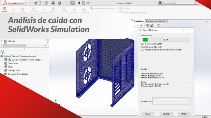 SOLIDWORKS Simulación Estudio De Caída