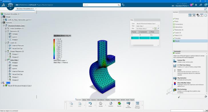 Conozca como ejecutar estudios estáticos en STRUCTURAL SCENARIO CREATION de la plataforma 3DEXPERIENCE