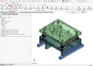 SolidWorks CAD Reportes de contactos de ensambles
