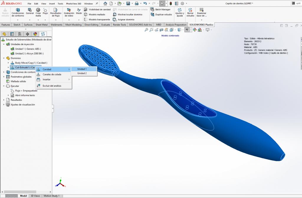 SolidWorks Plastics - Como simular el sobre moldeo- Unidad 1