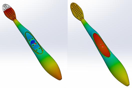 SolidWorks Plastics - Como simular el sobre moldeo - resultado