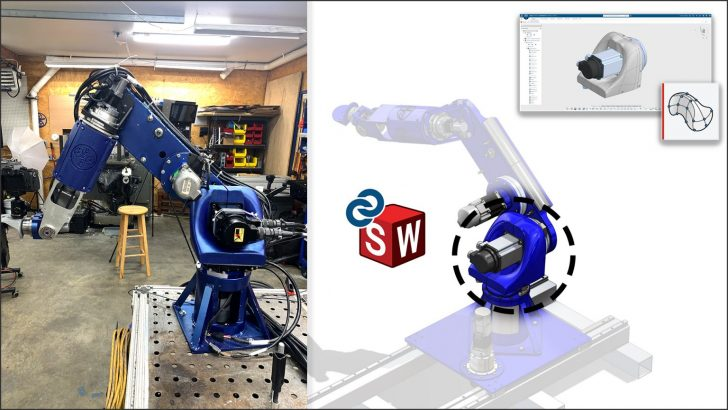 Cómo diseñé mi propio robot industrial de 7 ejes con SOLIDWORKS y 3D Sculptor