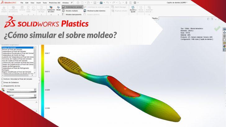 """SolidWorks Plastics """"Como simular el sobre moldeo"""""""