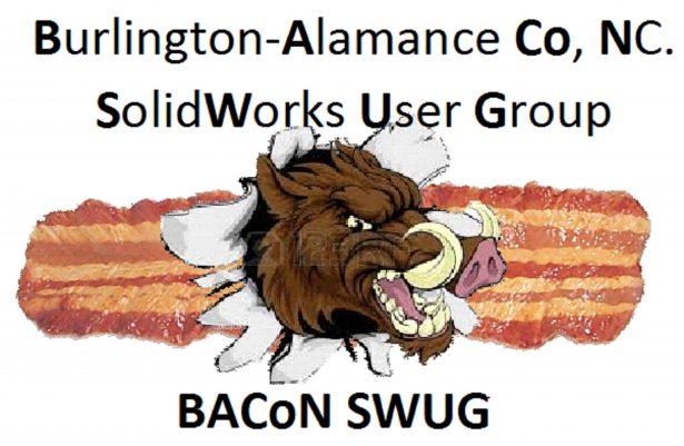 Burlington-Alamance County NC. SolidWorks User Group, BACoN SWUG logo