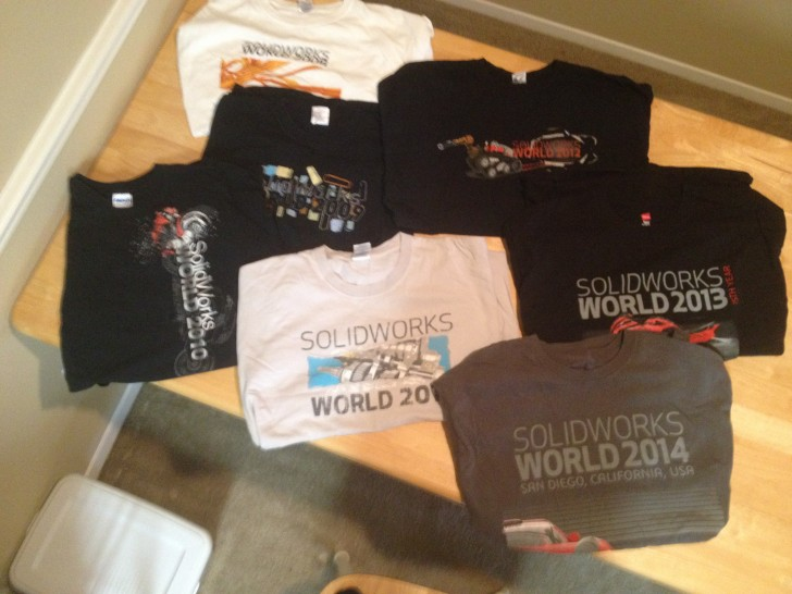 Design a SOLIDWORKS World T-Shirt for my Collection