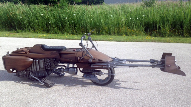 SOLIDWORKS Meets Vintage Works: Speeder Bike Motorcycle