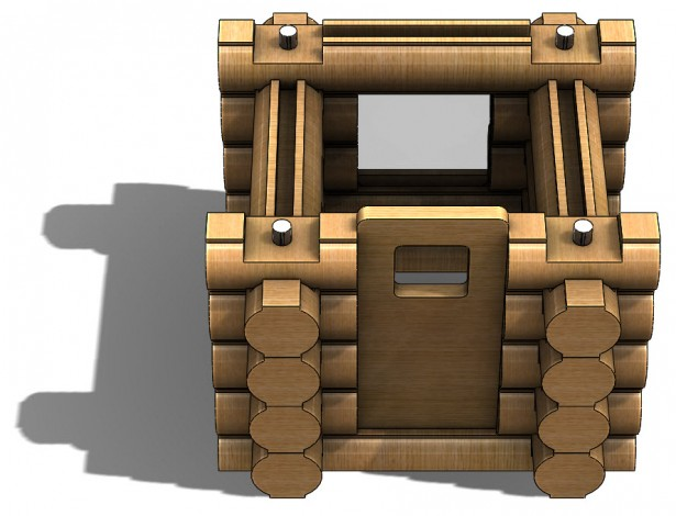 Door Assembly for Log Cabin