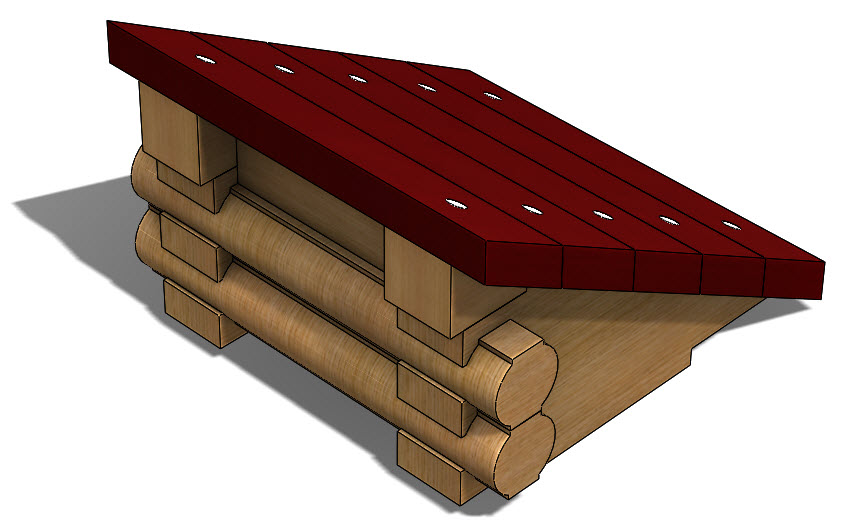 Creating a Log Cabin in SolidWorks – Part 16: Assembling a Small Roof Support