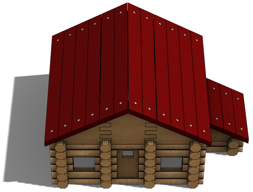 Creating a Log Cabin in SolidWorks – Part 19: Assembling the Roof