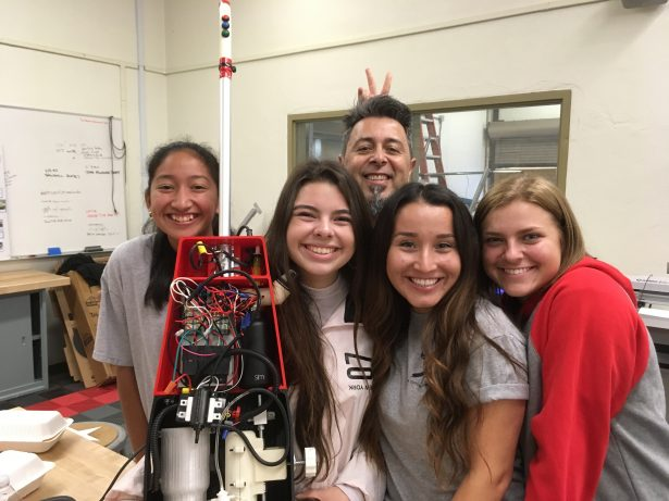 Ed and his students. Image credit: Ed Hernandez