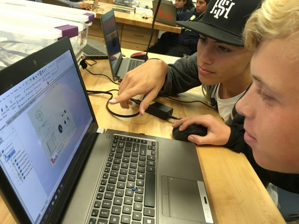 Ed's students using SOLIDWORKS