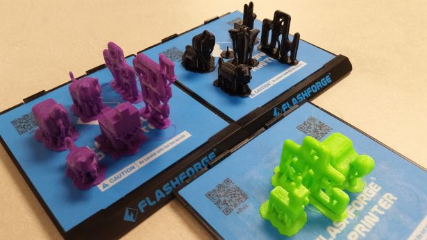 Prints made by Jackie's students using SOLIDWORKS Apps for Kids