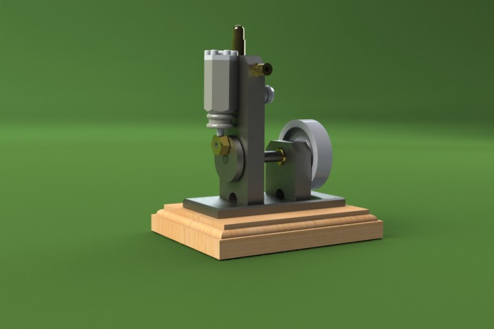 SolidWorks Tutorial: Pip Squeak Engine Models, Drawings and Animations