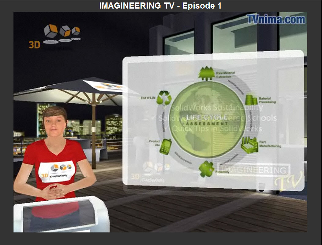 SolidWorks Sustainability featured on ImagineeringTV for Students