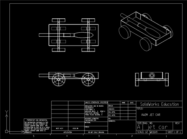 JETCAR - SAE A World In Motion K12 Project with DraftSight DWG File
