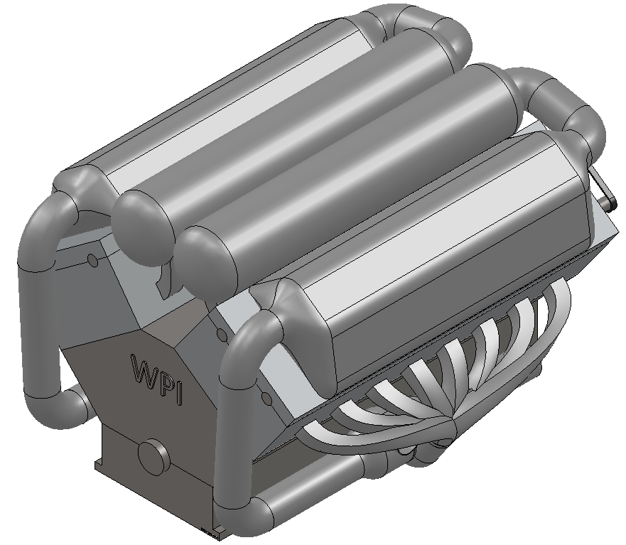 W16 Engine in SolidWorks
